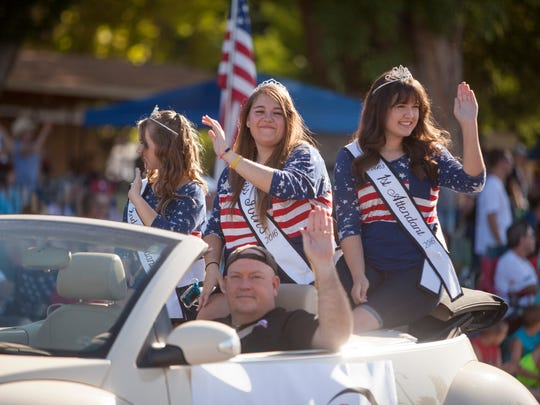 Residents celebrate Pioneer Day with a parade and games in Washington Saturday, July 23, 2016.