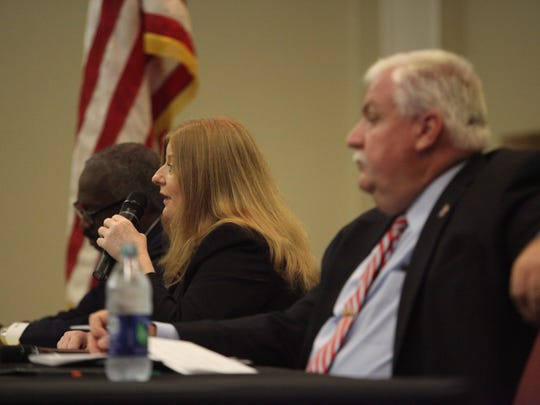 New Castle County Council candidates face off at a forum on Monday.