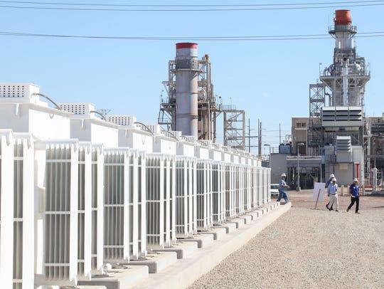 A 140-megawatt natural gas-fired power plants looms