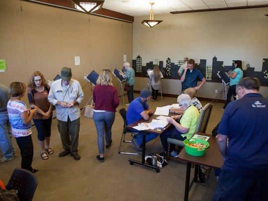 Washington City residents vote at the Washington County Library Tuesday, Nov. 8, 2016.