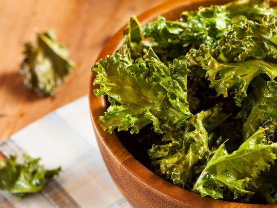 Make kale chips with salt and oil.
