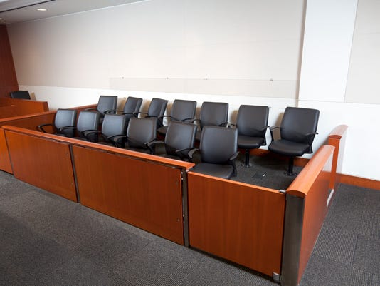 Modern Courtroom Jury Box