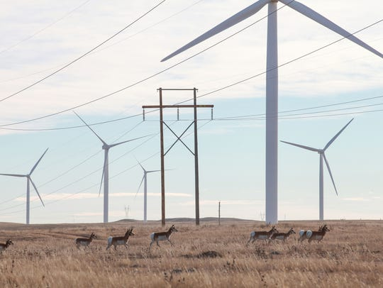 Duke Energy's Happy Jack wind farm, near Cheyenne,