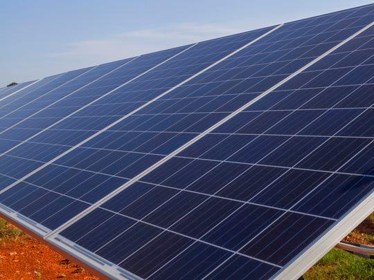 River Bend Solar Energy Center in Florence, Alabama on Sept. 14, 2016.