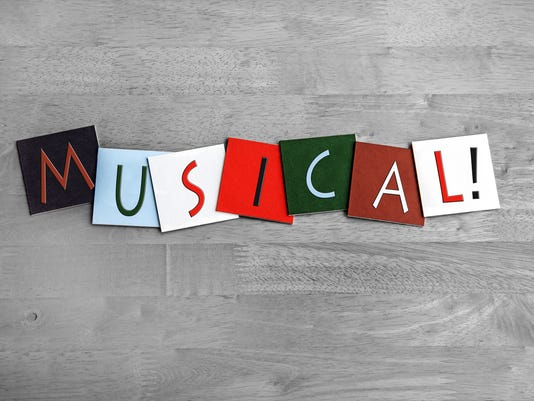 Musical, sign series for music, vocals, singing, dance, bands