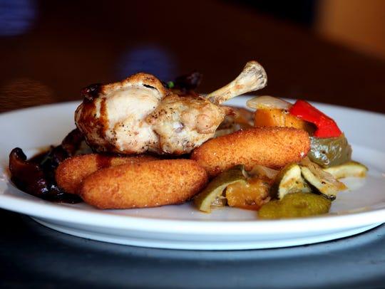 Pan seared local chicken breast with mushroom marsala