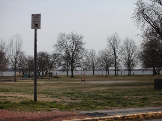 A portion of land adjoining Battery Park in New Castle has been eyed for a parking lot and become an issue in the upcoming City Council elections.