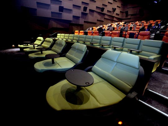 One of the theaters at iPic in Dobbs Ferry.