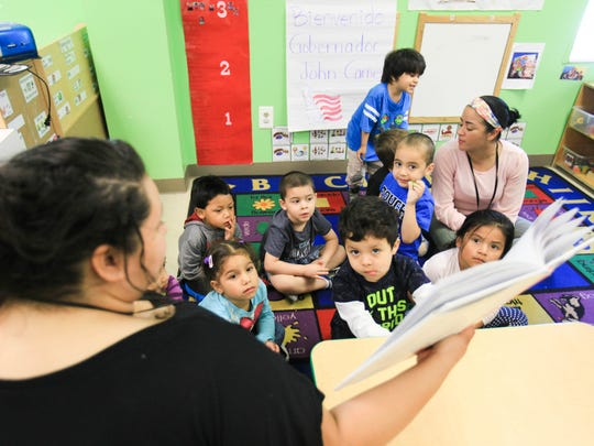 Governor Carney tours the Latin American Community Center in Wilmington Thursday. The governor announced a new federal grant that will expand early childhood education resources in Kent and Sussex Counties.