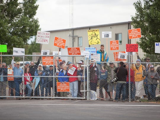 Demonstrators gather in Kanab in a hope of garnering