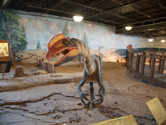 Visitors to the St. George Dinosaur Discovery Site