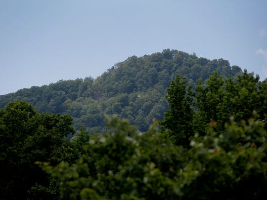Little White Oak Mountain is seen through the trees in Columbus May 18, 2017.