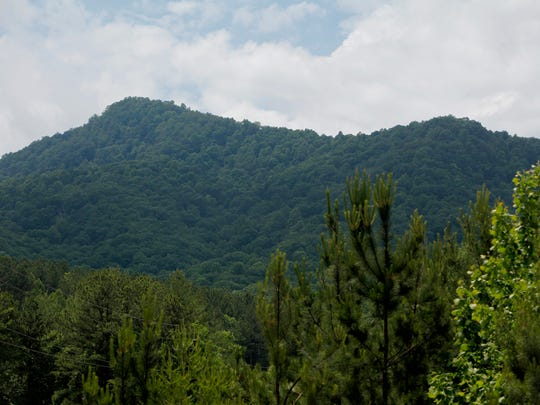 A view of Little White Oak Mountain in Columbus May 18, 2017.