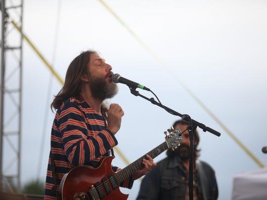 Chris Robinson performs in Tubman-Garrett Park in Wilmington Saturday.