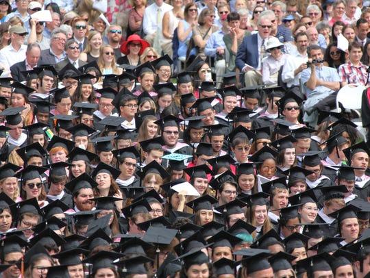 Vassar College's 153rd commencement last year
