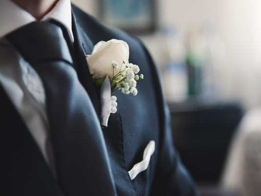 A groom preparing to marry the love of his life