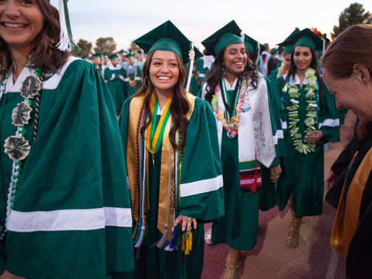 Graduates from Virgin Valley High School celebrate