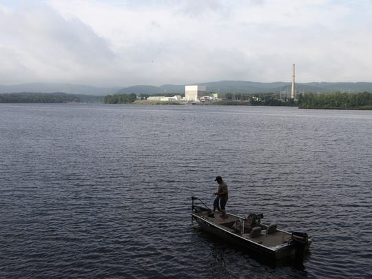 The Vermont Yankee Nuclear Power Plant in Vernon, Vermont, as seen from across the Connecticut River from New Hampshire, June 19, 2017.