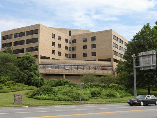 The exterior of the old United Hospital site on Boston