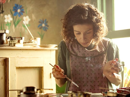 "In ""Maudie,"" the title character (played by Sally Hawkins) paints everything — the walls, the stove, the doors, the bread box,"