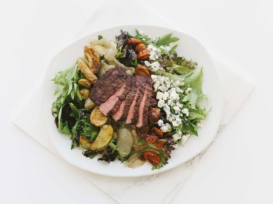The flatiron salad from Modern Market, now open in Ahwatukee.