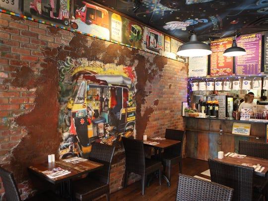 The dining room at Little Crepe Street + Little Mumbai