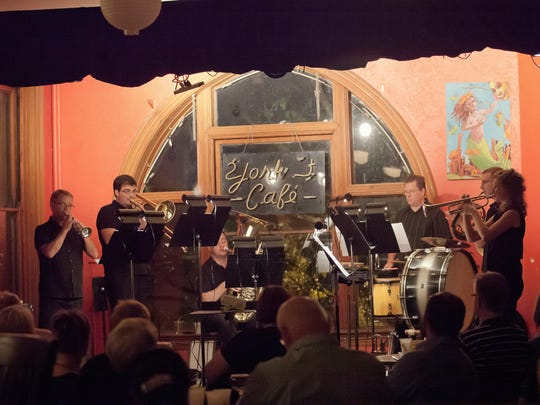 "A ""MicroBrass"" concert at York Street Cafe in a previous Chamber Orchestra Summermusik season."