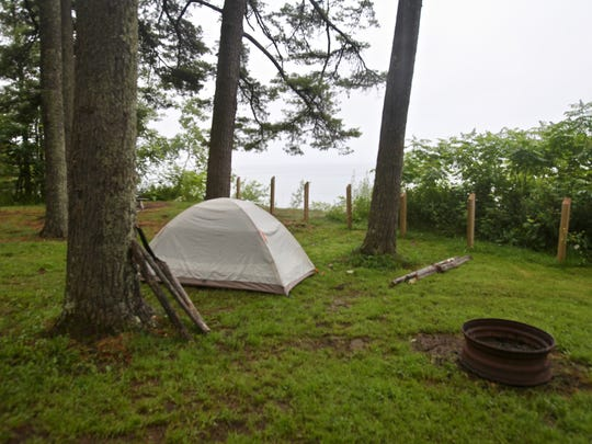 Some campsites at Memorial Park Campground outside Washburn boast views of Lake Superior.