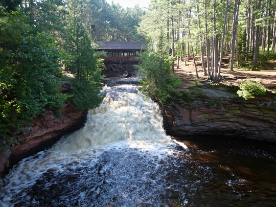 The Lower Falls at Amnicon Falls State Park near South Range.