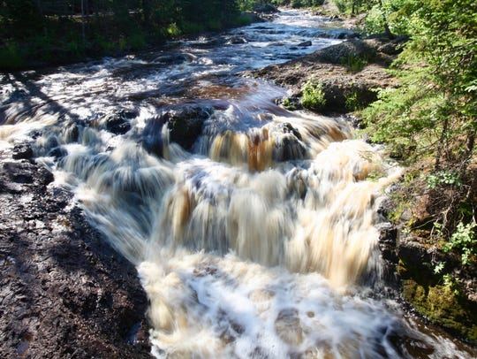 There are waterfalls around every bend at Amnicon Falls