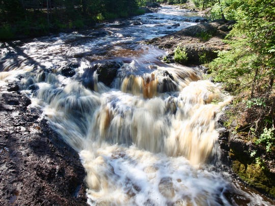 There are waterfalls around every bend at Amnicon Falls State Park near South Range.