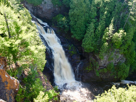 Big Manitou Falls at Pattison State Park outside Superior is the state's tallest waterfall at 165 feet.