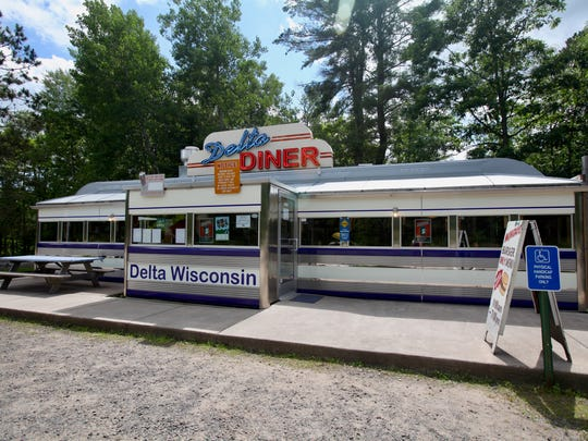 The Delta Diner serves breakfast and lunch in a renovated 1940s diner in the Chequamegon-Nicolet National Forest near Delta.