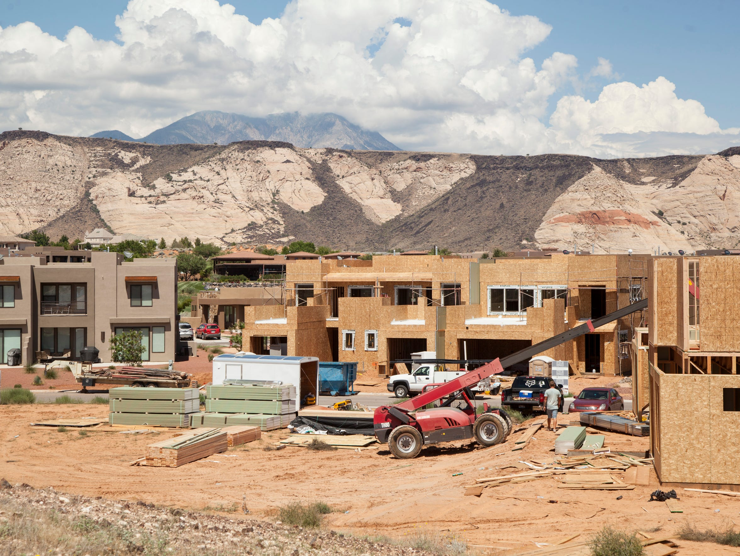 Construction crews continue building homes in the Ledges