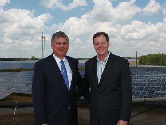 (L-R) Matt Kisber is CEO and Reagan Farr is chief financial