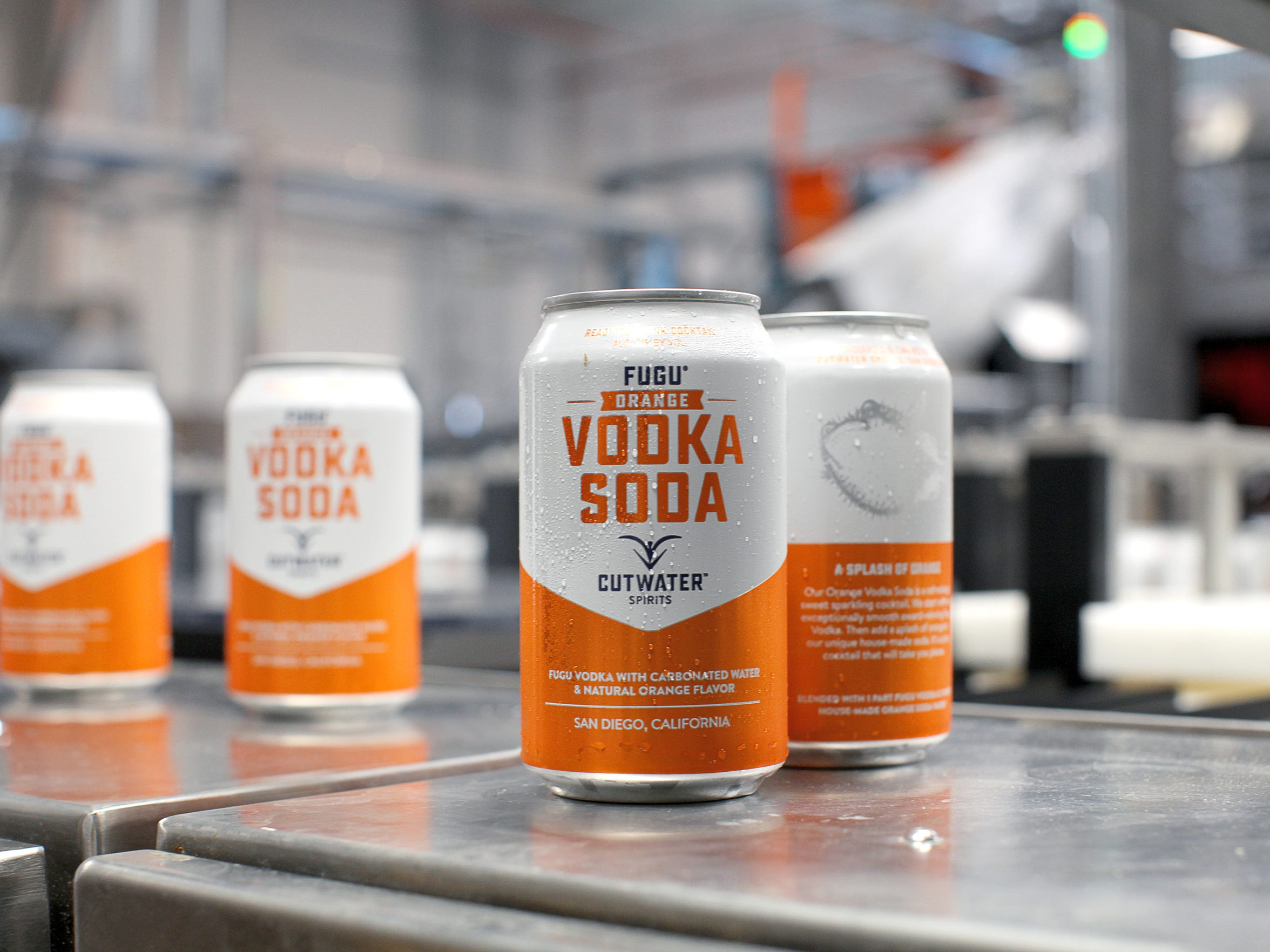 Orange Vodka Soda is one of 10 canned cocktails made