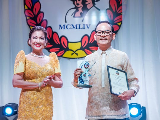 Nita Baldovino, Immediate Past FCG President and Dr. Ramel Carlos, winner of the 2016 Gawad Ulirang Pilipino Award under the Medical Category are pictured.