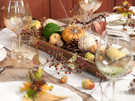 Natural Autumn Dining Table