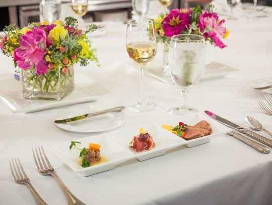 A trio of menu offerings at the Chef's Table at Mohonk