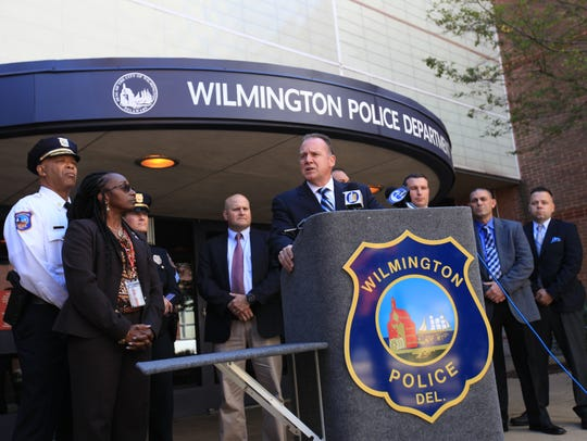 Wilmington police Chief Robert Tracy discusses the case of Kula Pelima last year. On Monday, Pelima was found not guilty by reason of insanity.