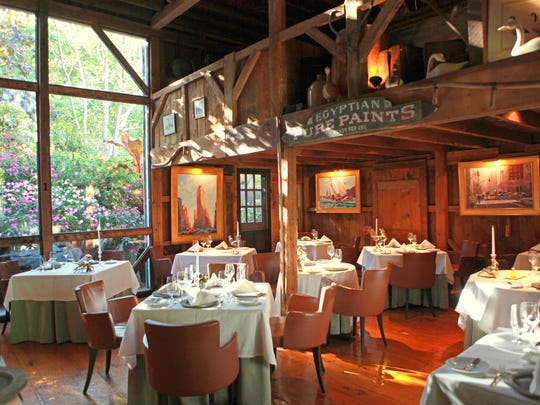 Dining room at The White Barn Inn Restaurant.