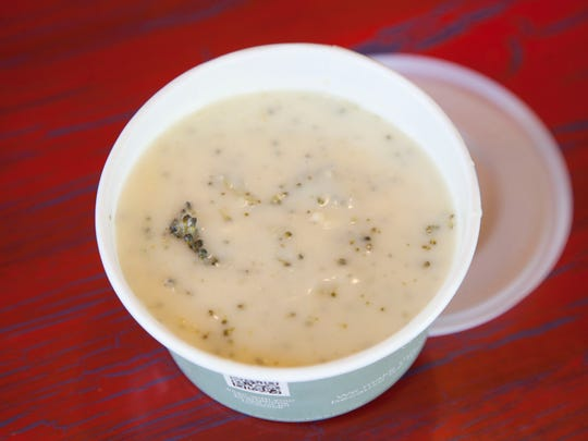 Cheddar Broccoli soup from Great Harvest Tuesday, Oct.