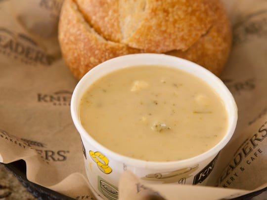 Cheddar Broccoli soup from Kneaders Tuesday, Oct. 31, 2017.