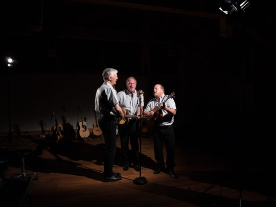The Kingston Trio 3.0 will perform at 2 p.m. Nov. 12 at the Civic Arts Plaza. From left are trio members Tim Gorelangton, Mike Marvin and Josh Reynolds.