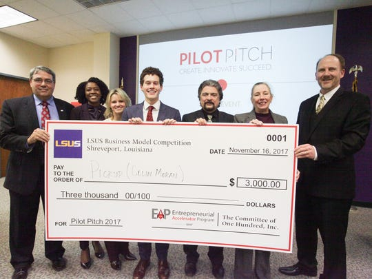 The winner of Louisiana State University Shreveport and the Entrepreneurial Accelerator Program (EAP)'s inaugural Pilot Pitch competition is Colin Moran, a junior at LSUS.