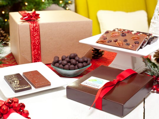 A chocolate lover's gift set from the Grocer's Daughter