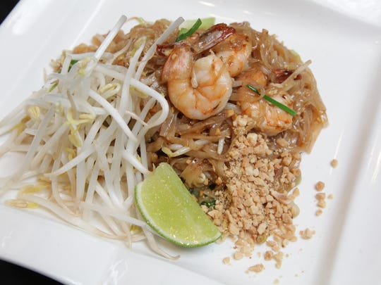 The Tom Yum Koong Thai restaurant. This is Pad Thai Shrimp.