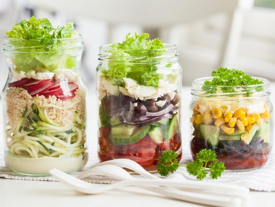 What's not hot in 2018? Meals in mason jars.