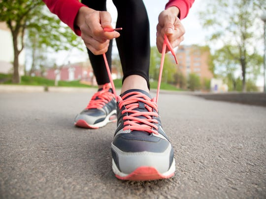 Running shoes in good condition are essential for runners.