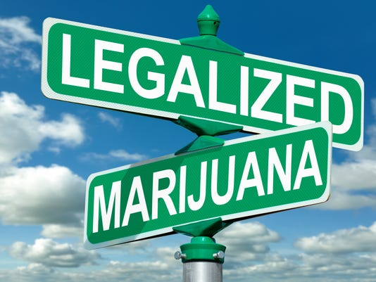 Legalized Marijuana Street Sign